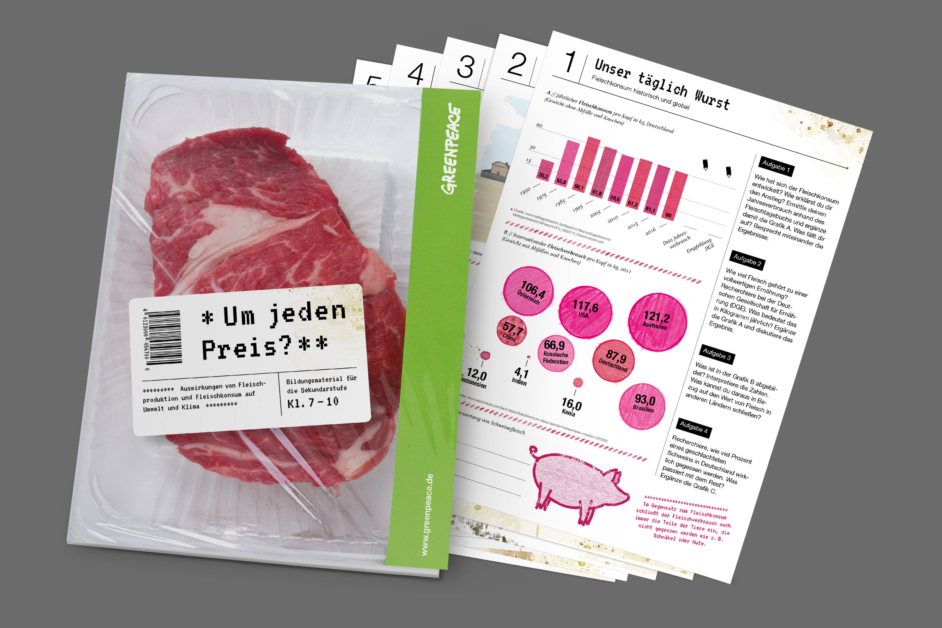 Greenpeace Fleisch Folder